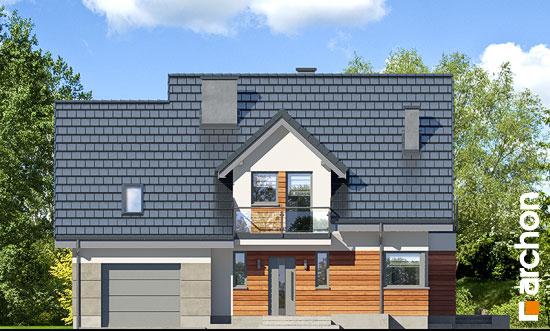 Elewacja frontowa projekt dom w tamaryszkach 4 pn  264