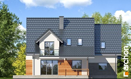 Elewacja ogrodowa projekt dom w tamaryszkach 4 pn  267