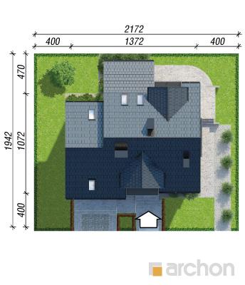projekt Dom w tamaryszkach 4 (PN) sytuacja