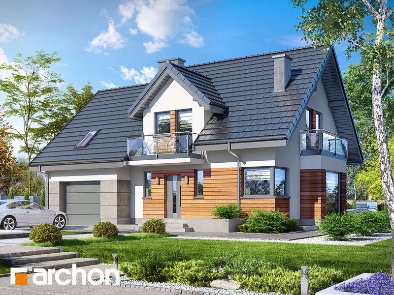 gotowy projekt Dom w tamaryszkach 4 (PN) widok 1