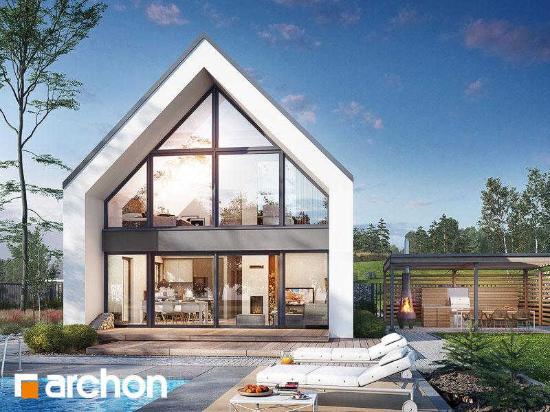 gotowy projekt Dom w papawerach (A) widok 1