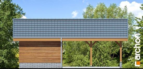 Elewacja frontowa projekt wiata garazowa w3  264
