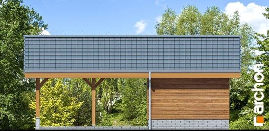 Elewacja ogrodowa projekt wiata garazowa w3  267