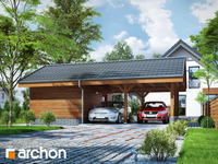 projekt Wiata garażowa W3 widok 1