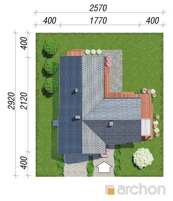 projekt Dom w grandarosach (G2) sytuacja