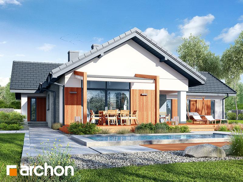 projekt Dom w grandarosach (G2) widok 1
