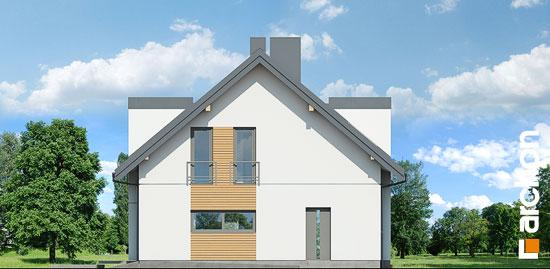 Elewacja boczna projekt dom w perelkowcach  265