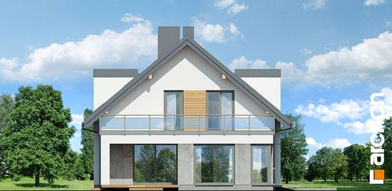 Elewacja boczna projekt dom w perelkowcach  266