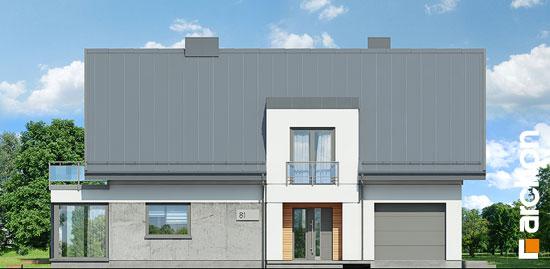 Elewacja frontowa projekt dom w perelkowcach  264