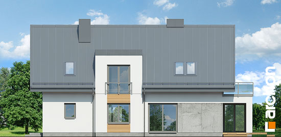 Elewacja ogrodowa projekt dom w perelkowcach  267