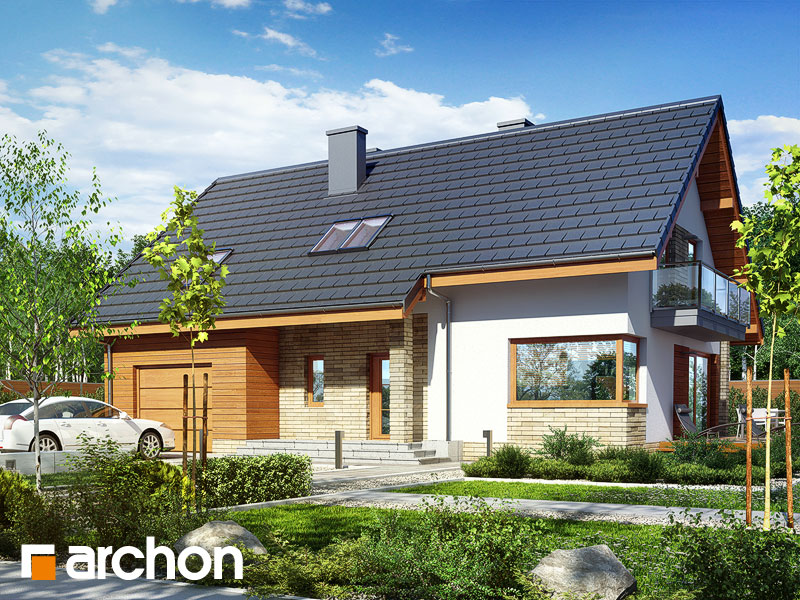 gotowy projekt Dom w idaredach 5 (A) widok 1