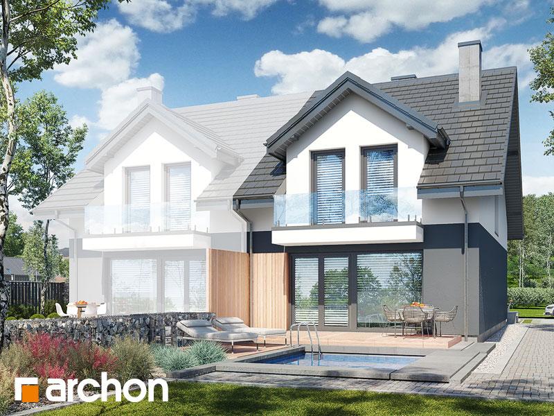 gotowy projekt Dom pod miłorzębem 20 (GB) widok 1