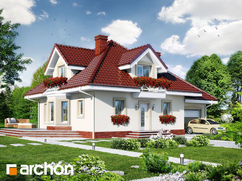gotowy projekt Dom w nektarynkach widok 1