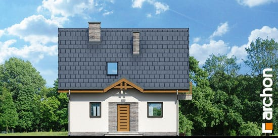 Elewacja frontowa projekt dom w poziomkach 3 ver 2  264