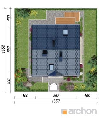 projekt Dom w poziomkach 3 sytuacja