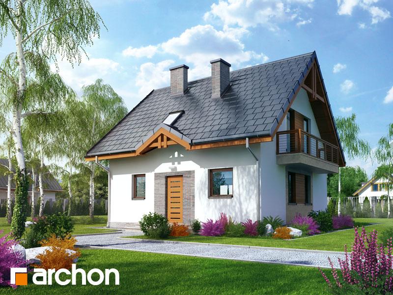 gotowy projekt Dom w poziomkach 3 widok 1