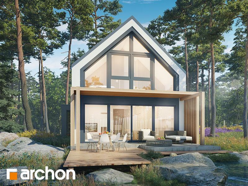 gotowy projekt Dom w cienistkach (A) widok 1