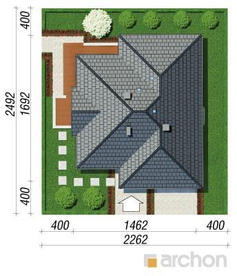 projekt Dom w jonagoldach sytuacja