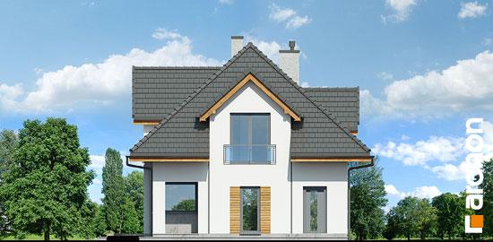 Elewacja boczna projekt dom w majeranku n  265