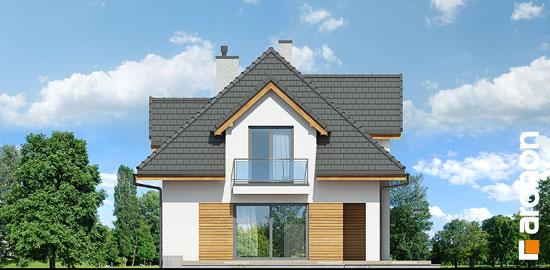 Elewacja boczna projekt dom w majeranku n  266