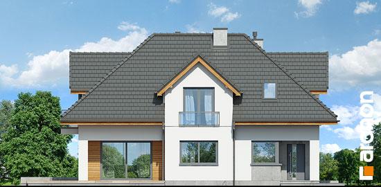 Elewacja frontowa projekt dom w majeranku n  264