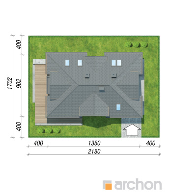 projekt Dom w majeranku (N) sytuacja