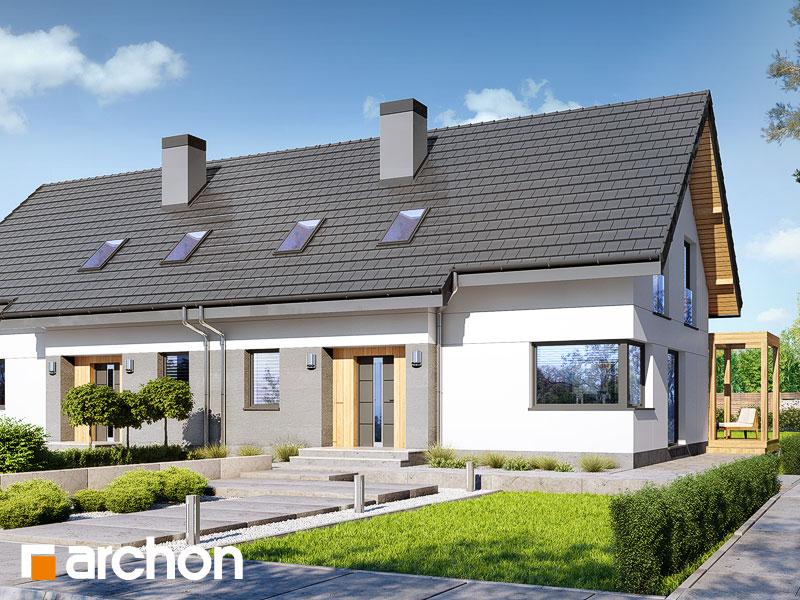 gotowy projekt Dom w zielistkach (AR2) widok 1