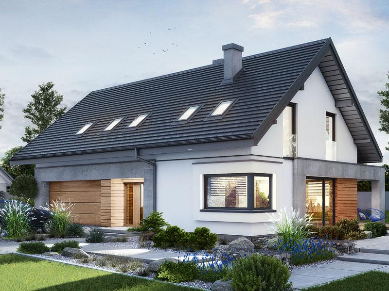 gotowy projekt Dom w malinówkach 8 (G2) widok 1