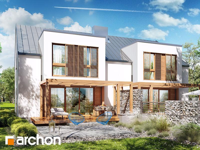 gotowy projekt Dom w klematisach 22 (R2) widok 1