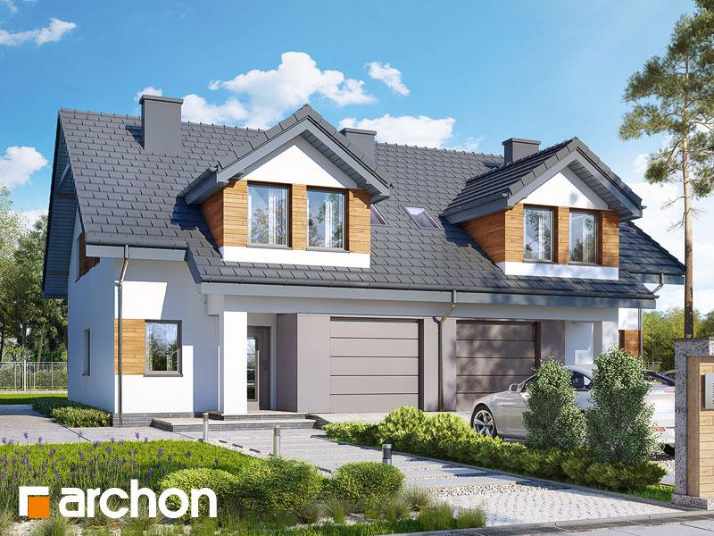 gotowy projekt Dom w klematisach 12 (T) widok 1