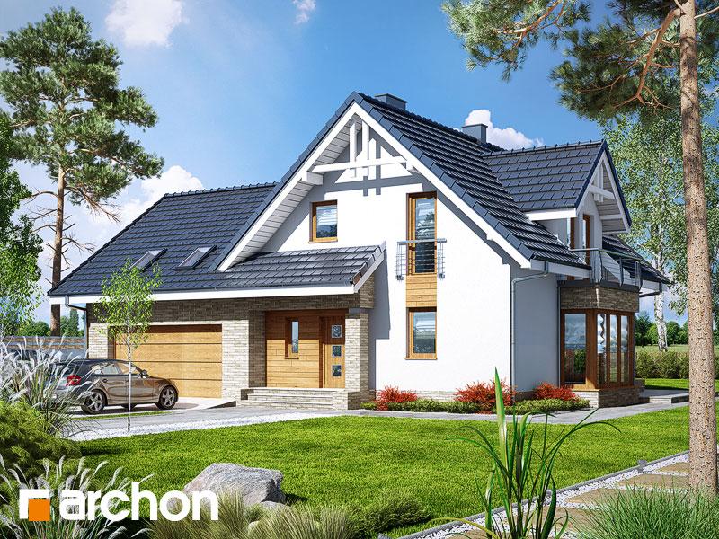 gotowy projekt Dom w tamaryszkach 2 (G2N) widok 1
