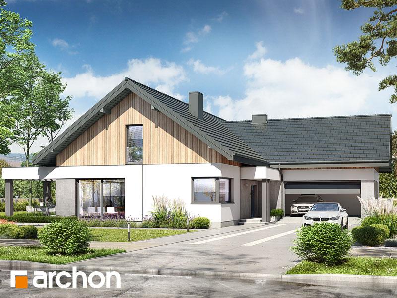 gotowy projekt Dom w przebiśniegach 12 (G2) widok 1