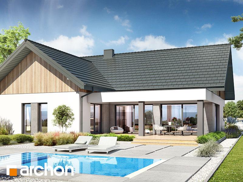 gotowy projekt Dom w przebiśniegach 12 (G2) widok 2