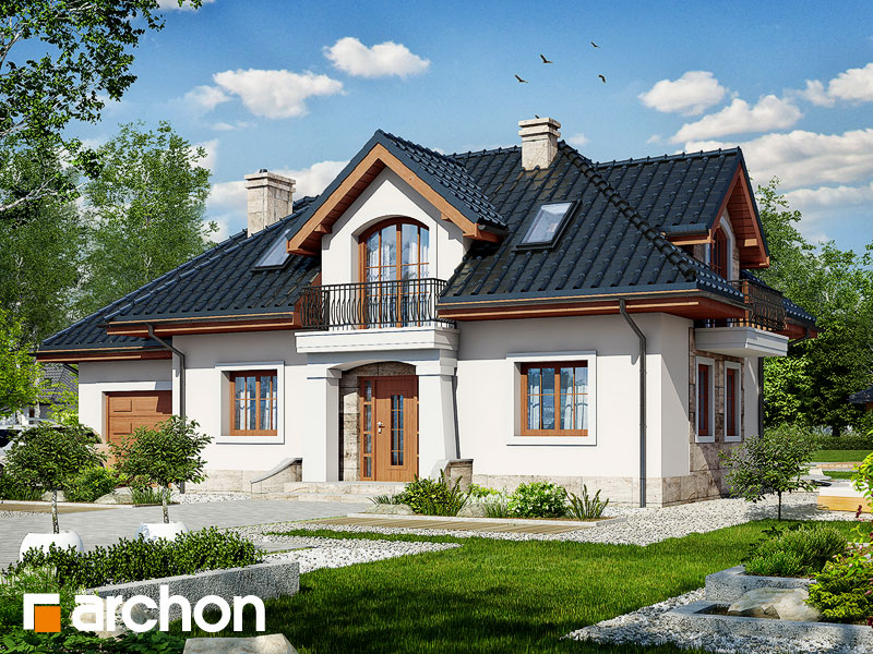 gotowy projekt Dom w aloesie 2 widok 1