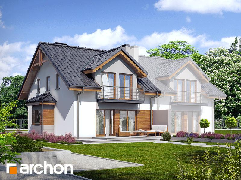 gotowy projekt Dom w klematisach 9 (B) widok 1