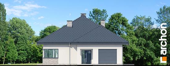 Elewacja frontowa projekt dom w renklodach 2  264