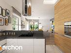 projekt Dom w renklodach 2 Wizualizacja kuchni 1 widok 2