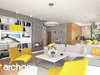 projekt Dom w renklodach 2 Strefa dzienna (wizualizacja 1 widok 2)