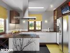 projekt Dom w bergamotkach (G2) Aranżacja kuchni 1 widok 2