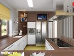 projekt Dom w bergamotkach (G2) Aranżacja kuchni 1 widok 3