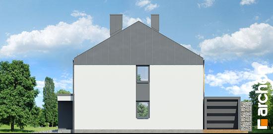 Elewacja boczna projekt dom w narcyzach bt  265