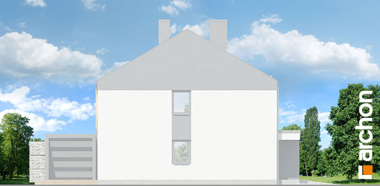 Elewacja boczna projekt dom w narcyzach bt  266