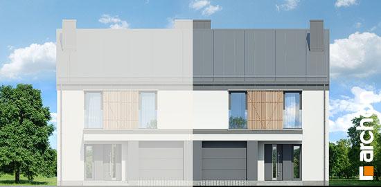 Elewacja frontowa projekt dom w narcyzach bt  264