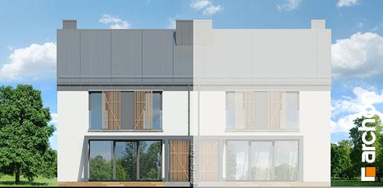 Elewacja ogrodowa projekt dom w narcyzach bt  267