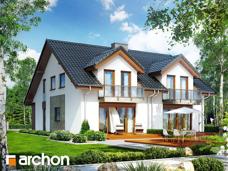 gotowy projekt Dom pod miłorzębem (GR2M) widok 1