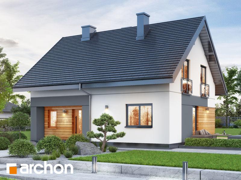gotowy projekt Dom w malinówkach 11 widok 1