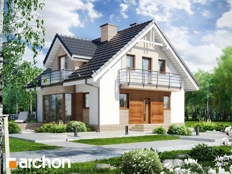 gotowy projekt Dom w rododendronach 5 (WPN) widok 1