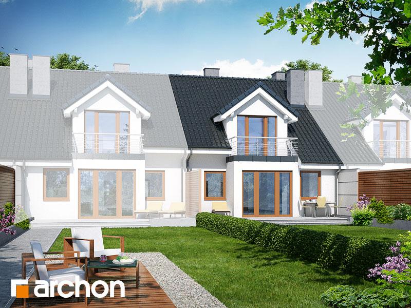 gotowy projekt Dom w klematisach 7 (S) widok 2
