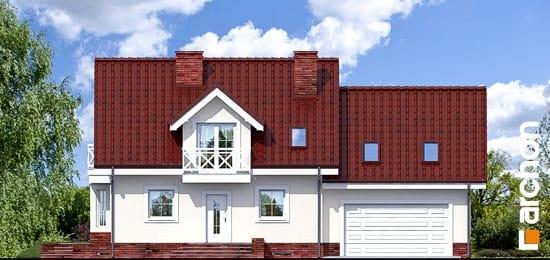 Elewacja frontowa projekt dom w rododendronach 6 g2p ver 2  264