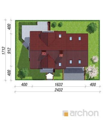 projekt Dom w rododendronach 6 (G2P) sytuacja